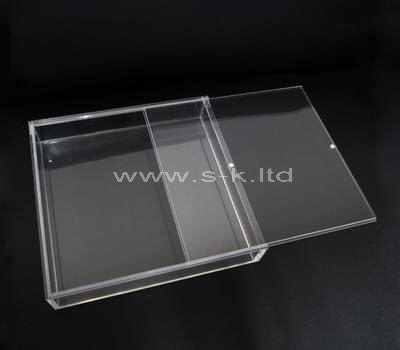 Custom design flat clear acrylic sliding box
