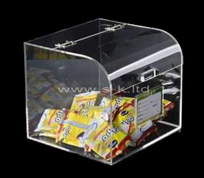 Custom design acrylic snacks display case