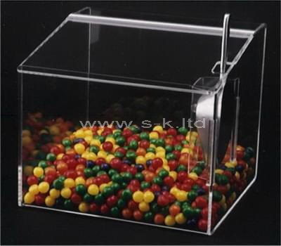 Custom design counter top acrylic candy display case