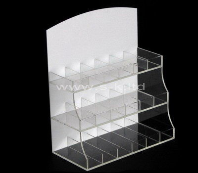 Custom design 3 tiered acrylic multi grids display holders