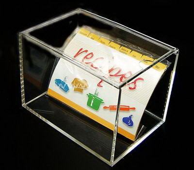 Custom design rectangular clear acrylic display case