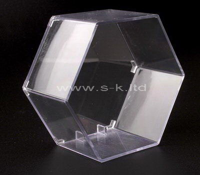 Custom design hexagon clear acrylic display case