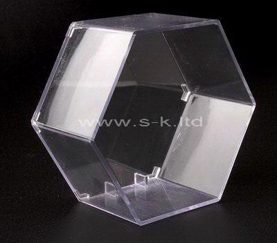 Custom design hexagon clear acrylic display case