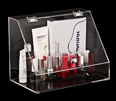 Custom design clear acrylic makeup storage box