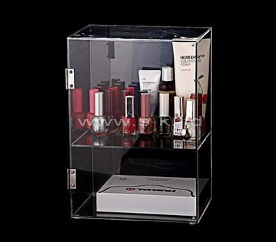 Custom design clear acrylic makeup organizer box