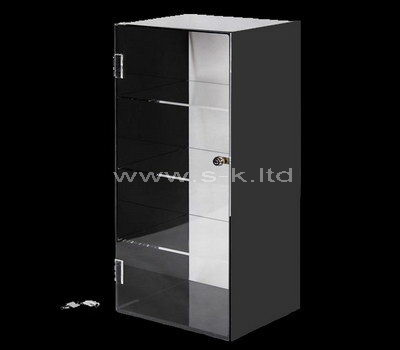 Custom design acrylic cosmetic display cabinet