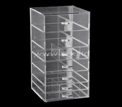 Custom design acrylic cosmetic 7 drawers organizer