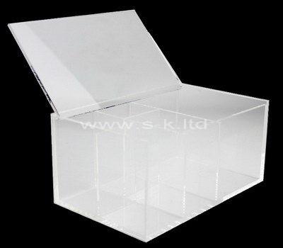 Custom design acrylic 7 grids organizer box