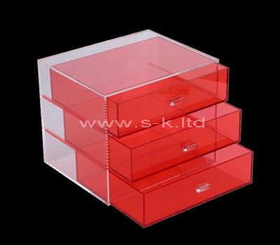 Custom design acrylic 3 drawers organizer box