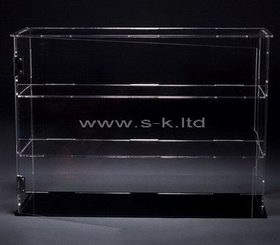 Custom design 3 tiered narrow clear acrylic display case
