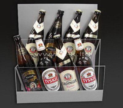 Custom design tiered acrylic beer bottle holder