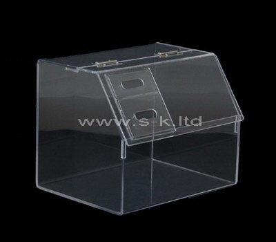 Custom design counter top clear acrylic display case