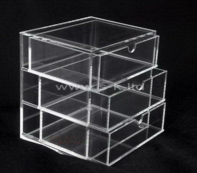 Custom design clear acrylic 3 drawers box