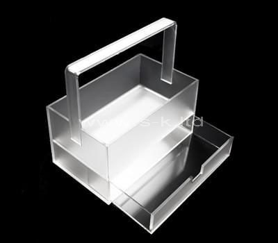 Custom design acrylic box with drawer and handle
