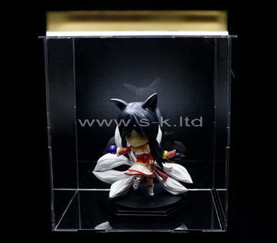 Custom design clear acrylic figure display cases