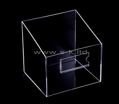 Custom design counter top acrylic display case with sign holder