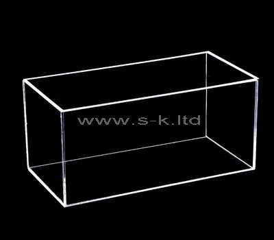 Custom design narrow clear acrylic box