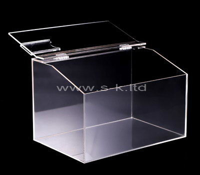 Custom design counter top clear acrylic box