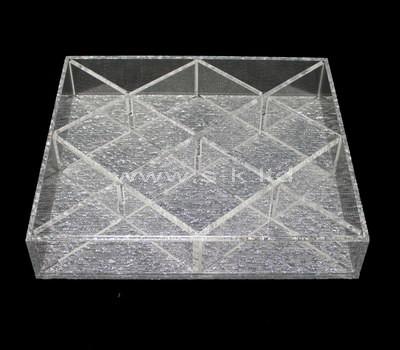 Custom design multi grids clear acrylic organizer tray