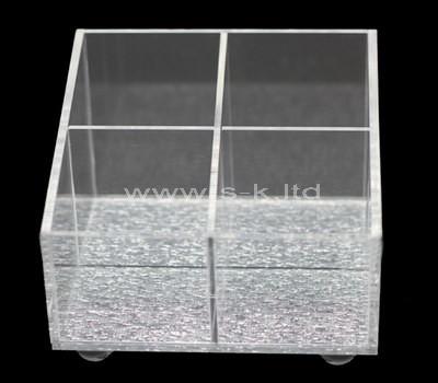 Custom design 4 grids acrylic box