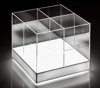 Custom design 4 grids clear acrylic box