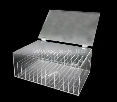 Custom design multi grids acrylic file organizer box