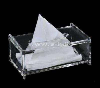 Custom design clear acrylic tissue paper box