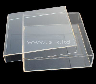 Custom design acrylic flat box with lid
