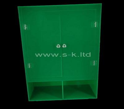 Custom design green acrylic cabinet with door