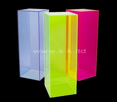 Custom color acrylic display cases