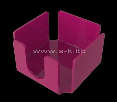 Custom pink acrylic notepad holder