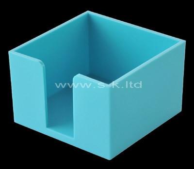 Custom blue plexiglass notepad holder