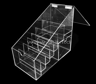 Custom multi pockets clear acrylic box