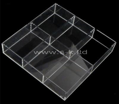 Custom 6 grids clear acrylic display holder
