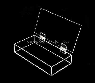 Custom clear acrylic box with lid
