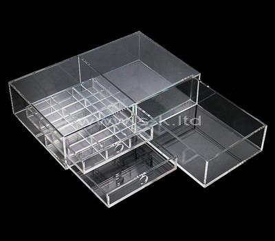 Custom clear acrylic drawers organizer