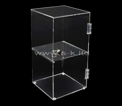 Custom clear acrylic locking display box