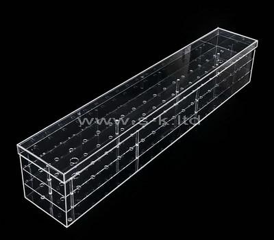 Custom long clear acrylic flower box