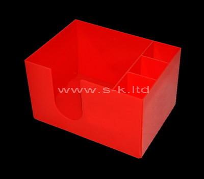 Custom red acrylic organizer box