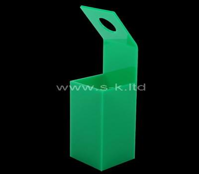 Custom green acrylic flower box