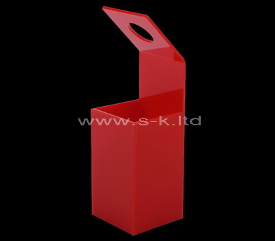 Custom red acrylic flower box