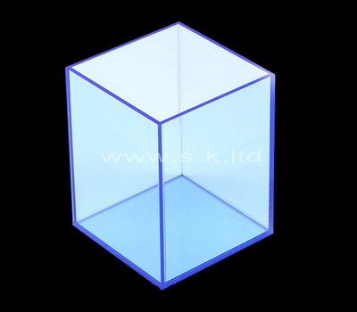 Custom clear blue acrylic box