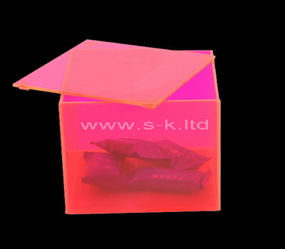 Custom pink acrylic box with lid