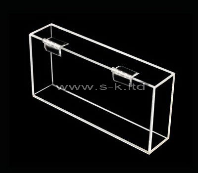 Custom small clear acrylic box with hinged lid