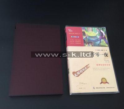 Custom red acrylic slipcase