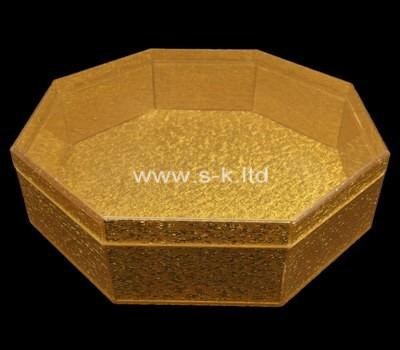 Custom octagon gold acrylic case