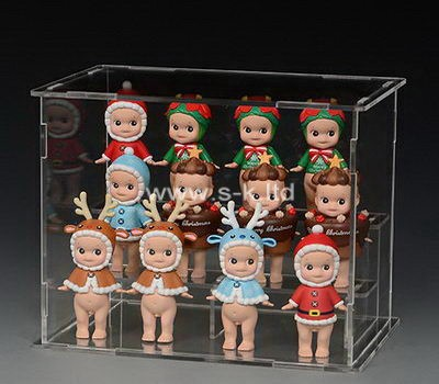 Custom 3 tiers clear acrylic toys case