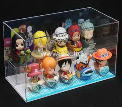 Custom 2 tiers clear acrylic dolls case