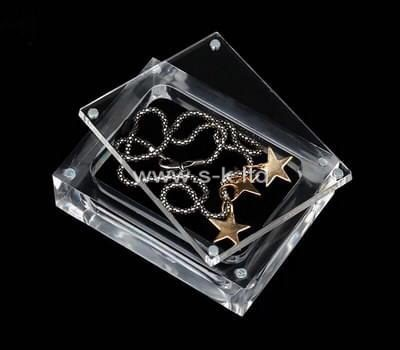 Custom lucite necklace display box