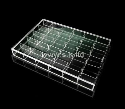 Custom multi grids lucite ring display box